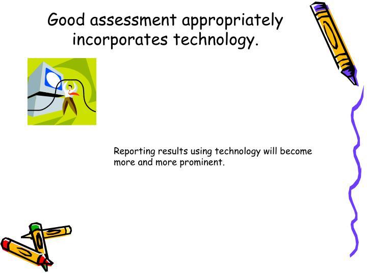 Good assessment appropriately