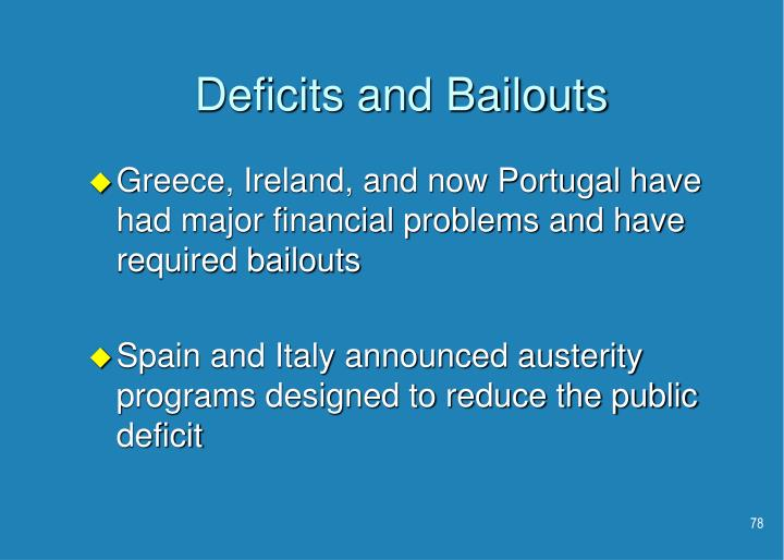Deficits and Bailouts
