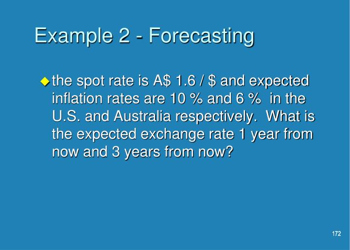 Example 2 - Forecasting