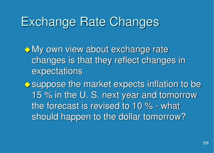 Exchange Rate Changes