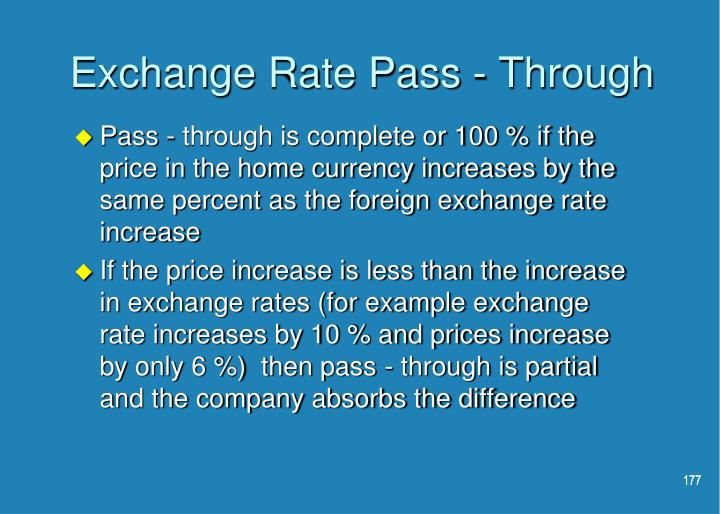 Exchange Rate Pass - Through
