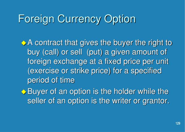 Foreign Currency Option