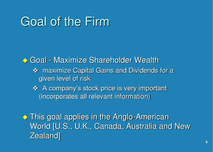 Goal of the Firm