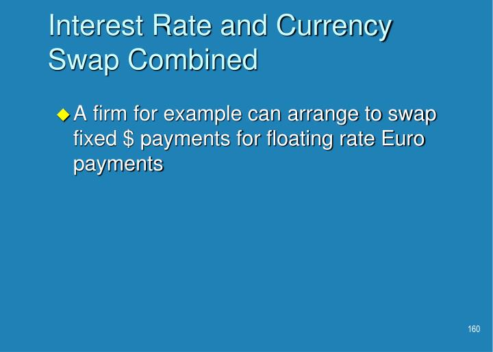 Interest Rate and Currency Swap Combined