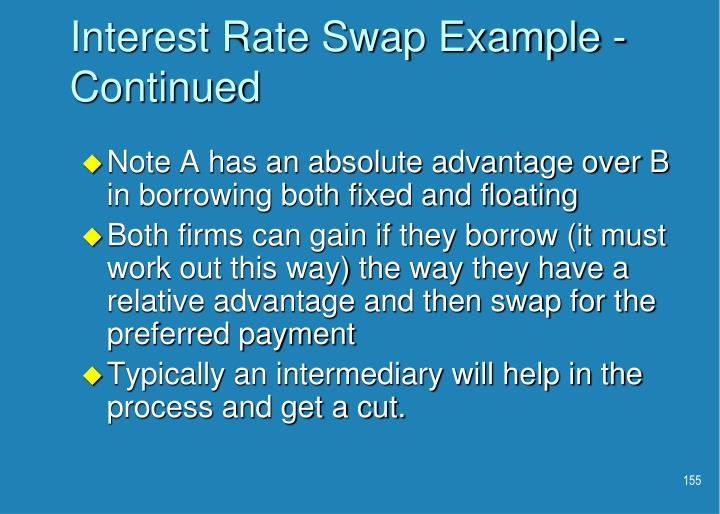 Interest Rate Swap Example - Continued