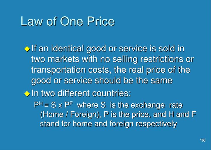 Law of One Price