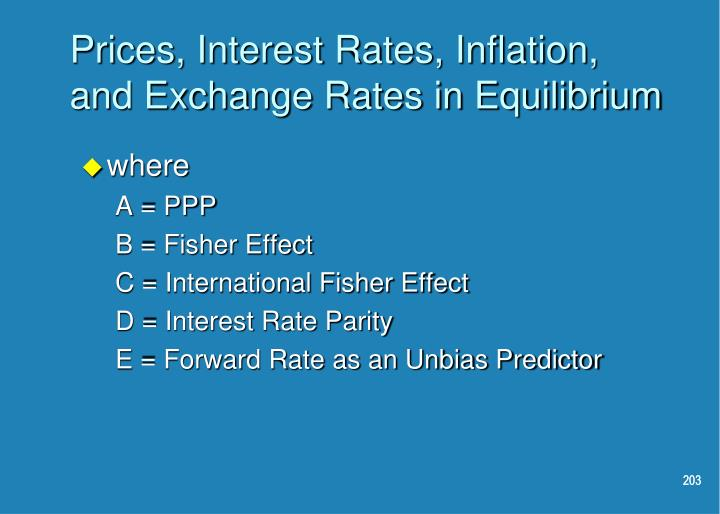 Prices, Interest Rates, Inflation, and Exchange Rates in Equilibrium