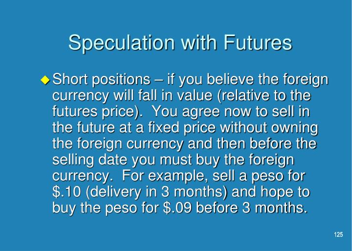 Speculation with Futures
