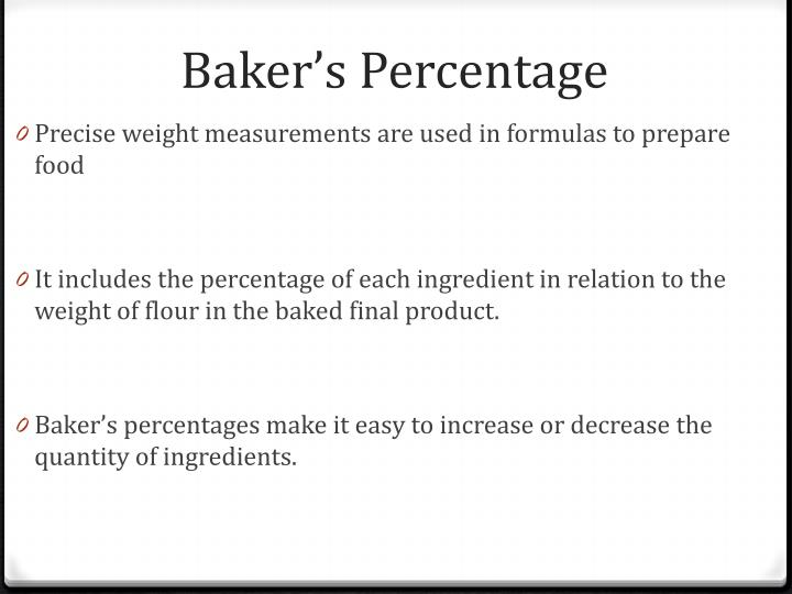 Baker's Percentage