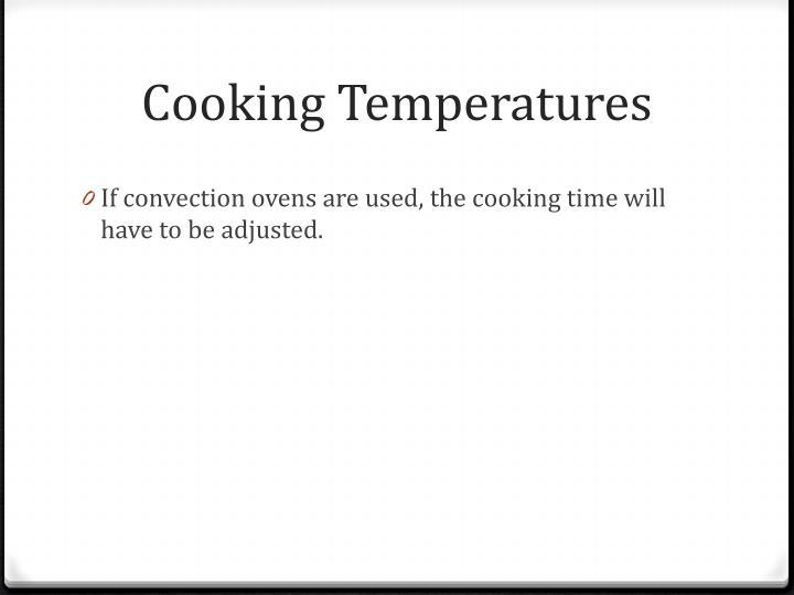 Cooking Temperatures