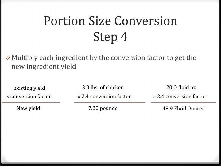 Portion Size Conversion