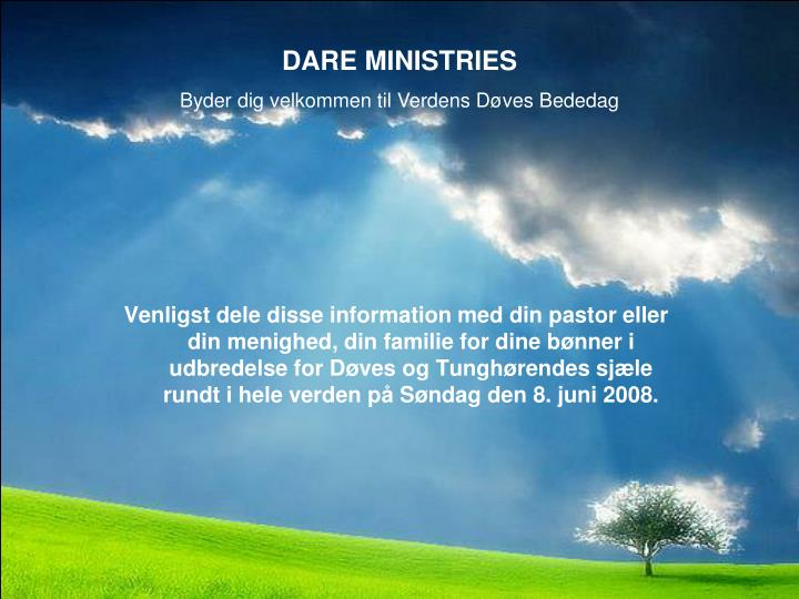 DARE MINISTRIES