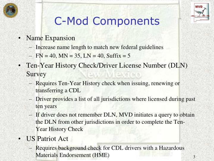 C mod components