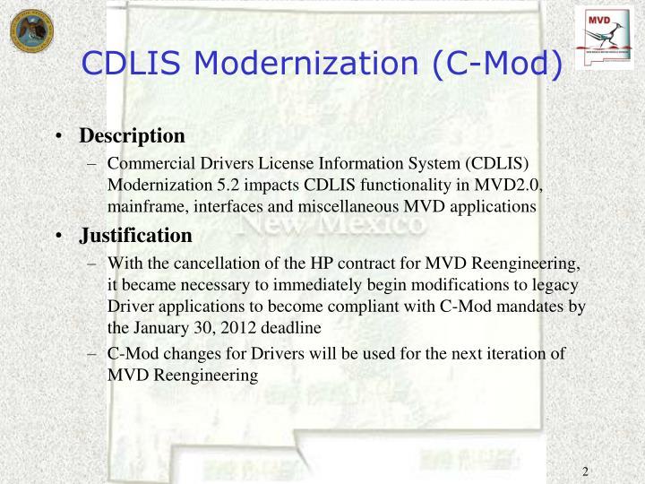 Cdlis modernization c mod