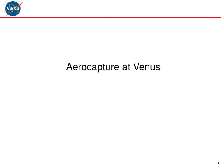 Aerocapture at Venus
