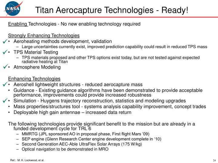 Titan Aerocapture Technologies - Ready!