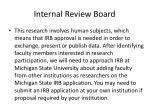 internal review board