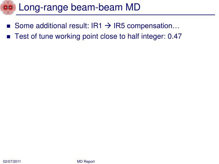 Long range beam beam md