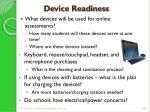 device readiness