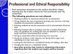 professional and ethical responsibility1