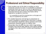 professional and ethical responsibility2