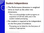 student independence