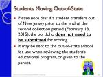 students moving out of state