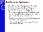 test security agreement