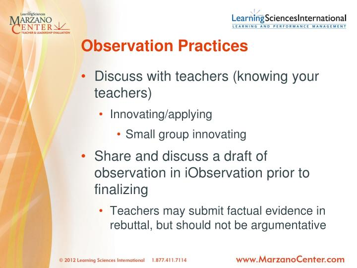 Observation Practices