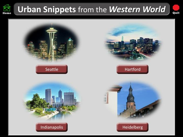 Urban snippets from the western world