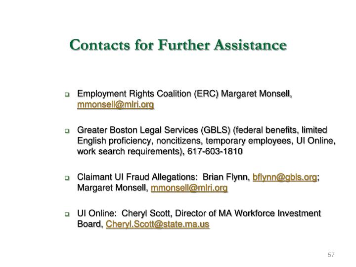 Employment Rights Coalition (ERC) Margaret Monsell,