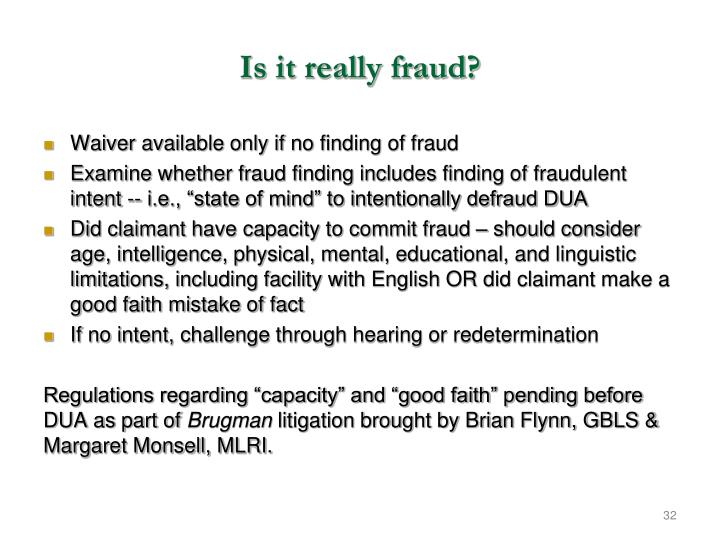 Is it really fraud?