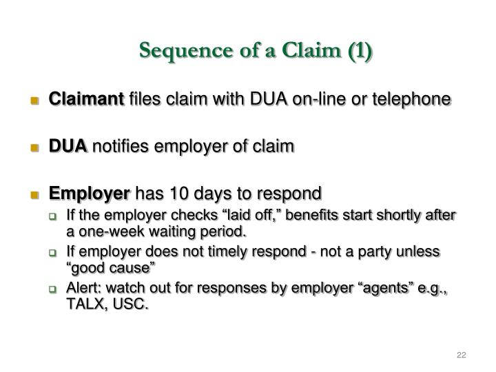 Sequence of a Claim (1)