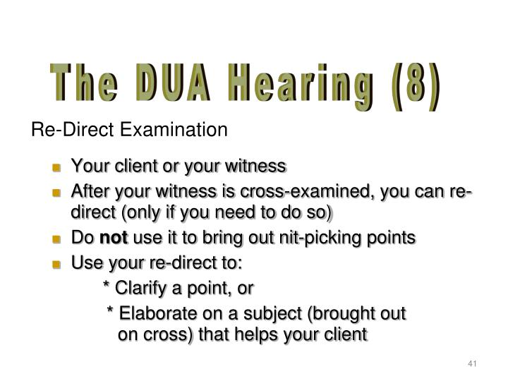 Your client or your witness