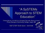 a systems approach to stem education