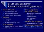 stem collegian center research and civic engagements