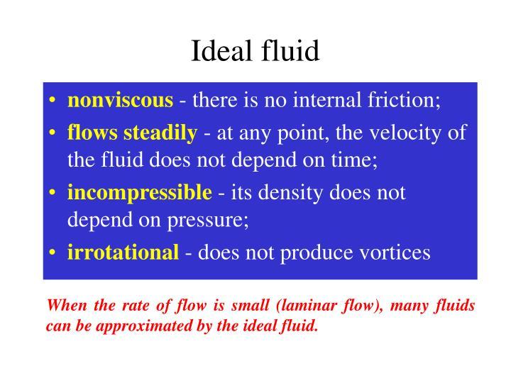 Ideal fluid