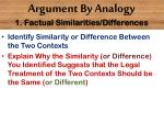 argument by analogy 1 factual similarities differences1