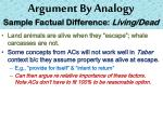 argument by analogy sample factual difference living dead1