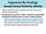 argument by analogy sample factual similarity mobility1