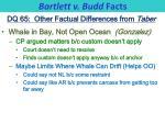 bartlett v budd facts