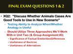 final exam questions 1 22