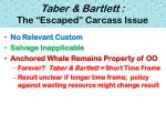 taber bartlett the escaped carcass issue