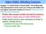 taber dq61 whaling customs1