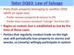taber dq63 law of salvage