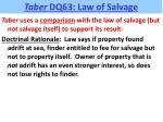 taber dq63 law of salvage3