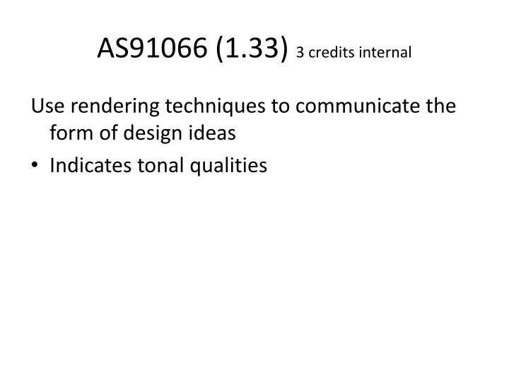 As91066 1 33 3 credits internal