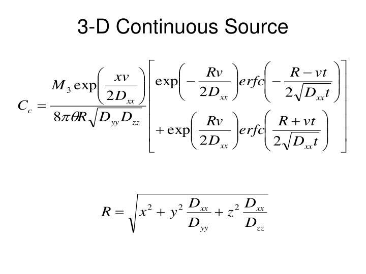 3-D Continuous Source