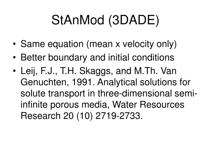 StAnMod (3DADE)