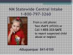 nm statewide central intake 1 800 797 3260